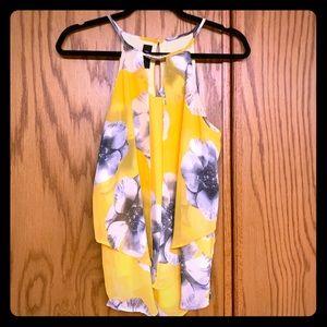 BCX Floral Chiffon Dress Tank